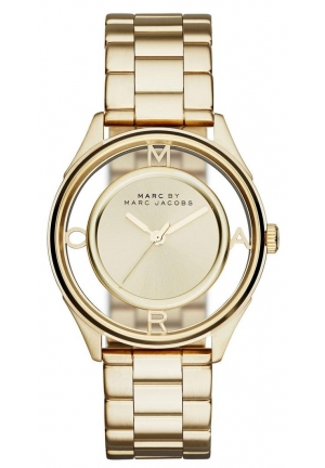 MARC JACOBS LADIES TETHER GOLD TONE WATCH mbm3413