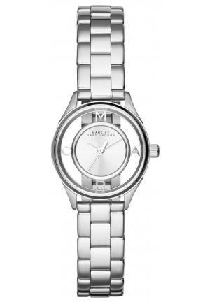 MARC JACOBS Tether Analog Display Analog Quartz Silver-Tone Watch 25mm