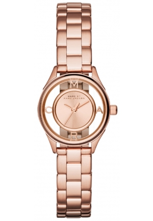 MARC JACOBS Tether Analog Display Analog Quartz Rose Gold Watch 25mm