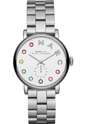 MARC BY MARC JACOBS Silver Dial Stainless Steel Unisex Watch 36mm MBM3420