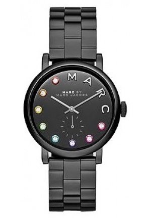Marc by Marc Jacob Black Dial Black Ion-plated Ladies Watch 36mm