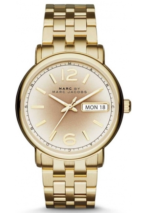 Marc By Marc Jacobs Ferus Gunmetal Gray Dial Gold Stainless Steel Ladies Watch