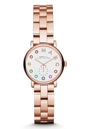 MARC JACOBS Rose Gold Baker Dexter Bracelet 28mm