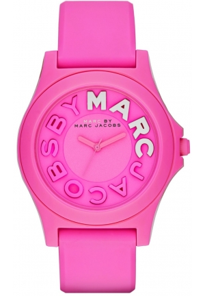Marc by Marc Jacobs Women's Sloane Pink Silicone Strap Watch 40mm MBM4023