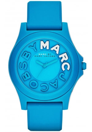 Marc by Marc Jacobs Women's Sloane Blue Silicone Strap Watch 40mm MBM4024
