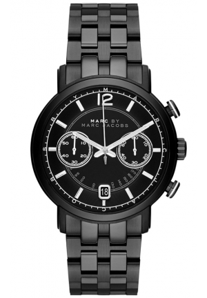 Men's Chronograph Fergus Black Ion-Plated Stainless Steel Bracelet Watch 42mm MBM5065