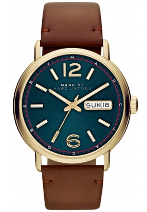 Fergus Men's Brown Leather Watch 42mm MBM5077