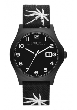 MARC JACOBS Jimmy Black Nylon Watch 42mm MBM5088