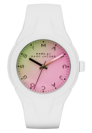 Women's X-Up White Silicone Strap Watch 38mm MBM5536