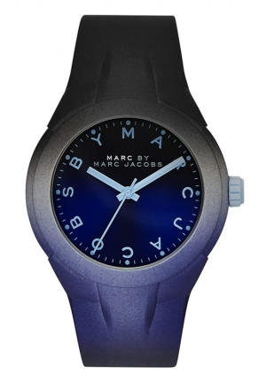 Women's X-Up Blue and Black Degrade Silicone Strap Watch 38mm