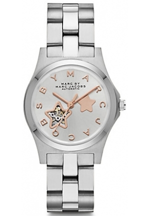 MARC JACOBS Two-Tone Stainless Steel Star Cutout Unisex Watch 32mm MBM9711
