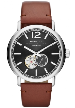 Men's Automatic Fergus Camel Leather Strap Watch 42mm MBM9714