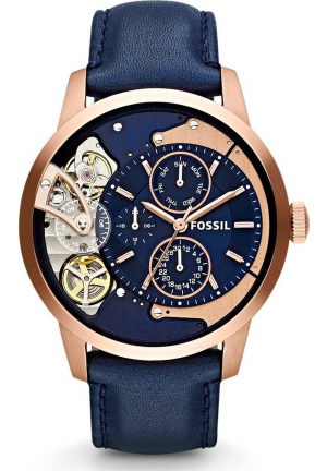 FOSSIL TOWNSMAN NAVY BLUE MULTIFUNCTION WATCH 44MM ME1138