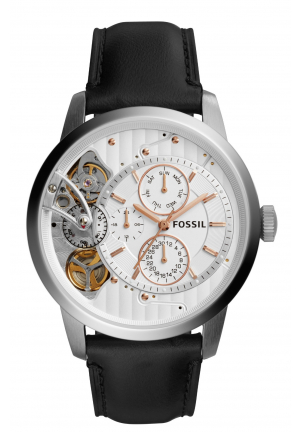 FOSSIL Townsman Men's Watch Black Leather 44mm