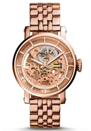 FOSSIL Original Boyfriend Rose Gold-Tone Stainless Steel 37mm