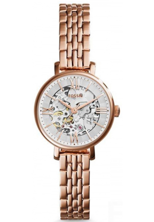 Fossil Jacqueline Small Skeleton Dial Rose Gold