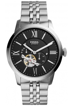 Fossil Men's Automatic Chronograph Townsman Stainless Steel Bracelet Watch 44mm