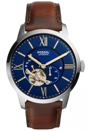 FOSSIL TOWNSMAN AUTOMATIC LEATHER WATCH 44MM ME3110