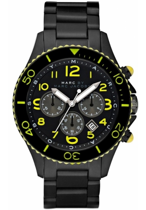 Men's Black Rock IP Bracelet 46MM