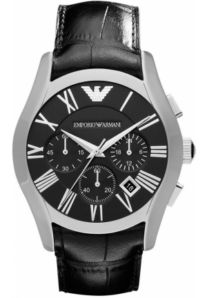 Men's Chronograph Black Croco Leather Strap 42mm