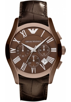 Men's Chronograph Brown Croco Leather Strap 42mm