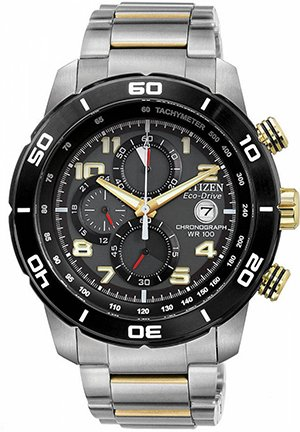 Men's Primo Chronograph Watch in Two Tone Stainless Steel 46mm