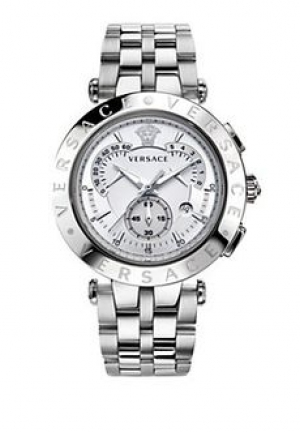 Men's White Dial Chronograph Watch 42mm