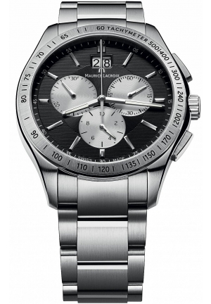 MAURICE LACROIX Miros Silver and Black Dial Men's Watch 41mm