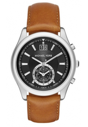 MICHAEL KORS Aiden Chronograph Leather Watch - Brown 43mm
