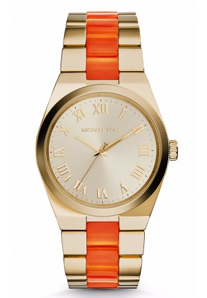 MICHAEL KORS Channing Gold-Tone Acetate Watch 38mm