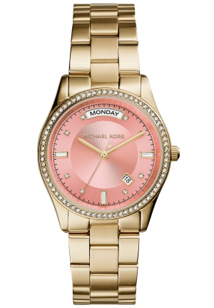 MICHAEL KORS Colette Gold-Tone Stainless Steel Bracelet Watch 34mm