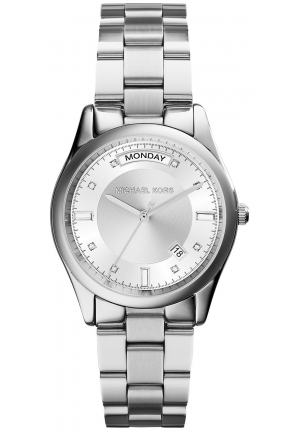 MICHAEL KORS Colette Silver Tone Watch 34mm