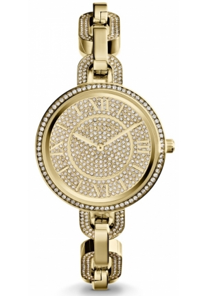 MICHAEL KORS Delaney Gold Tone Link Watch 37mm