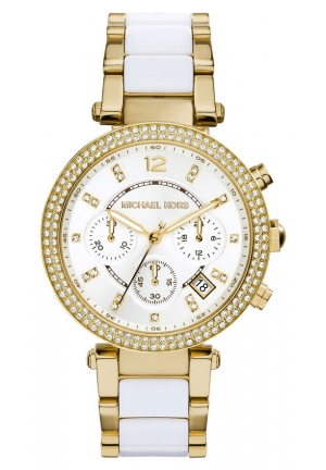 MICHAEL KORS Parker Chronograph Stainless Steel Watch - Gold Tone 39mm