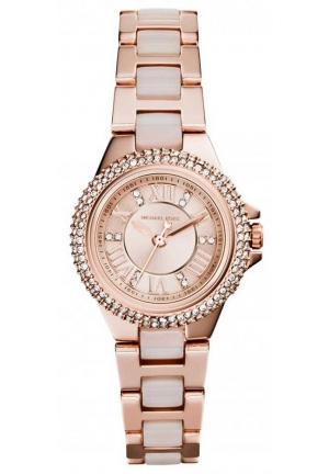 MICHAEL KORS Petite Camille Rose Gold-Tone Watch 26mm