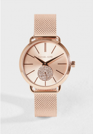 Michael Kors Porita Rose Dial Ladies Watch