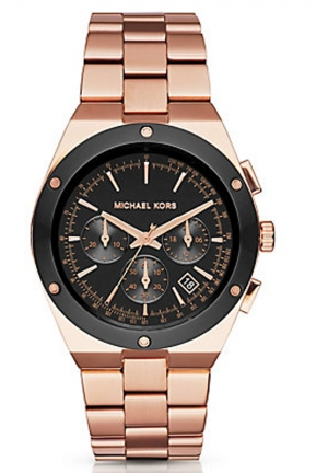 MICHAEL KORS Reagan Rose-Gold Tone Watch 41mm