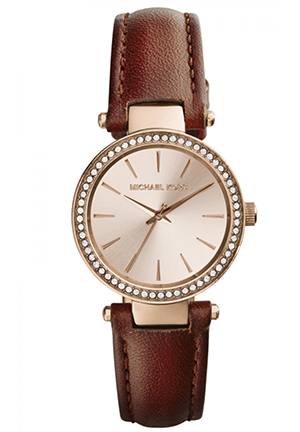 MICHAEL KORS Womens - Petite Darci Rosegold/Chocolate 26mm