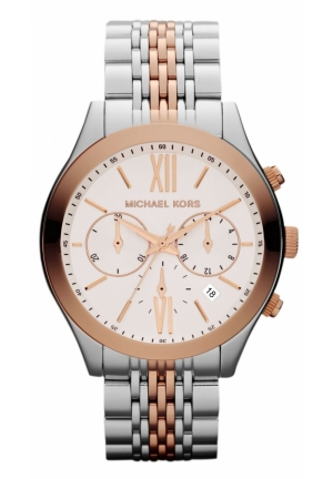 Mid-Size Silver Rose Golden Stainless Steel Watch 42mm