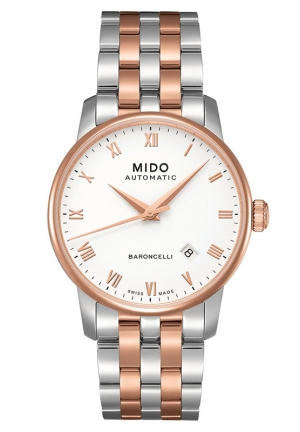 MIDO Baroncelli Men Mechanical Automatic Swiss Watch 38mm