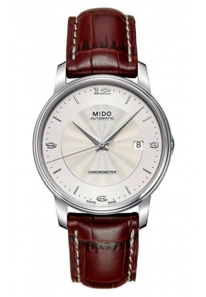 Mido Men's Automatic Watch Baroncelli M0104081603710 with Leather Strap 39mm