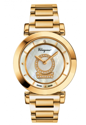 "Minuetto"" Gold-Plated Stainless Steel Casual Watch 36mm"