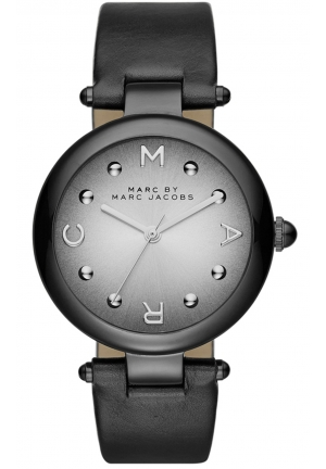 MARC JACOBS Dotty Three Hand Leather Watch - Black 34mm MJ1410