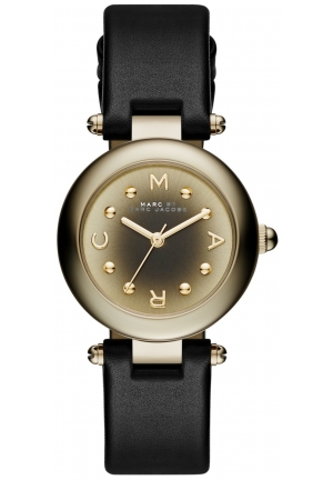 MARC JACOBS Dotty Black Leather Strap Watch 26mm