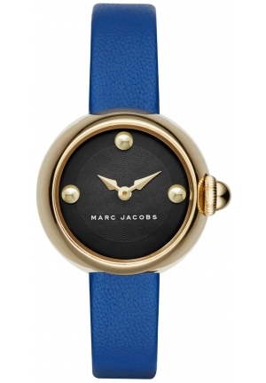 Marc by Marc Jacobs Women's 'Courtney' Quartz Blue Leather Casual Watch