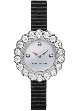Marc Jacobs Women's Tootsie Black Grosgrain Strap Watch 30mm MJ1442