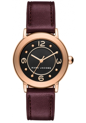 Marc Jacobs Women's Mini Riley Leather Strap Watch