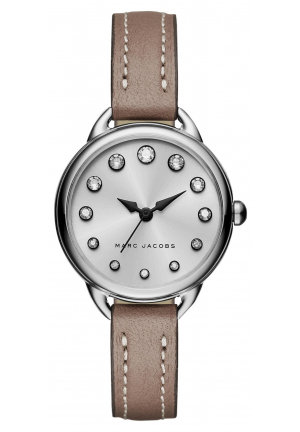 Marc Jacobs Women's Betty Cement Leather Strap Watch 28mm