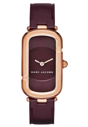 Marc Jacobs Women's The Jacob Oxblood Leather Strap Watch 23x39mm