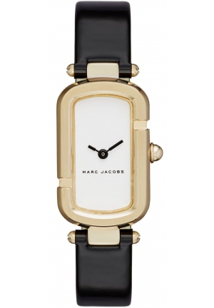 Marc Jacobs Ladies Jacobs Black Leather Strap Watch